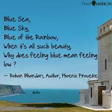 blue sea blue sky blue quotes writings by rohan bhandari