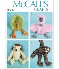 mccalls sewing pattern m7703 soft toys
