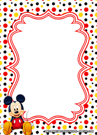Free Polkadot Mickey Mouse Invitation Templates En 2020