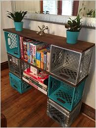15 Clever Ideas To Recycle Plastic Milk Crates Diy Projects With Wood Home Diy Crate Diy Easy Home Decor