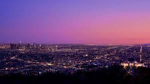 7680x4320 los angeles at night pink sky