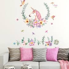 Jm7329 Deer Flower Decoration Wall Sticker Sale Price Reviews Gearbest
