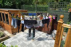 Urban Rotary Washing Line Stock Image Image Of Rotary 32811831