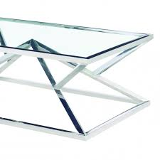 stainless steel silver finish and glass top
