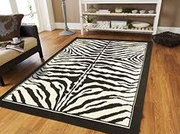 zebra animal print hallway runner rug