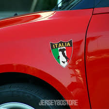 Height Reflective Shield Italy Italian Flag Map Car Decal Sticker Wish