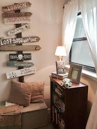 Bookshelf And Directional Wall Decor For Peter Pan Bedroom Nursery Peter Pan Bedroom Kid Room Decor Bedroom Diy