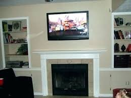 mount above fireplace hanging awesome