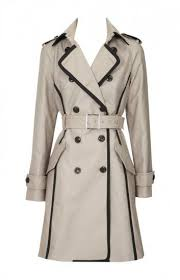 fitted italian cotton trench coat with