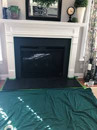paint a marble fireplace surround