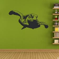 Sea Coral Wall Turtle Vinyl Decal Under Deep Art Removable Sticker By Snuggledust Studios Large Oats Vamosrayos