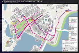 2019 singapore grand prix road closures