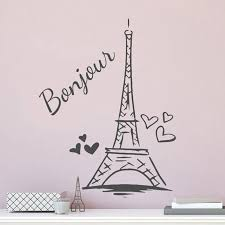 Paris Tower Wall Sticker Personalized Kids Girls Name Vinyl Home Decor Room Decals Nursery Baby Bedroom Murals Custom A203 Wall Stickers Aliexpress