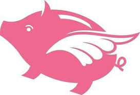 Flying Pig Vinyl Sticker For Wall Laptop Car Decal Decor Fun Removable Ebay