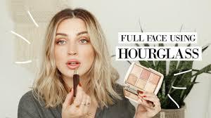 full face using hourgl cosmetics