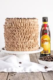 kahlua cake with mocha ercream