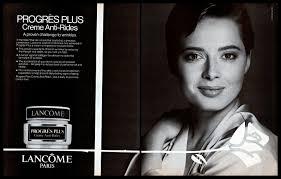 Isabella Rossellini Lancome Cream Vintage PRINT ADVERTISEMENT Skin Care B&W