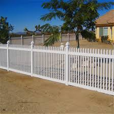 China Pvc White Plastic Picket Fence China Picket Fence And Temporary Fence Price