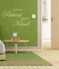 Love Is Patient Love Is Kind Bedroom Wall Decals Vinyl Lettering Sticker