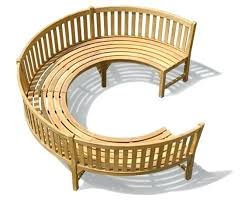 a curved garden bench hand made in with