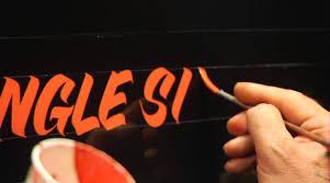 single stroke lettering demo by glen