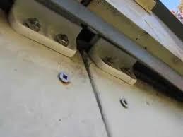metal garden shed door slide repair