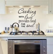 Amazon Com Kitchen Decals Cooking With Love Kitchen Wall Decals Cooking Decals Kitchen Quotes Vinyl Quote Decals Kitchen Decal Sticker H9 Arts Crafts Sewing