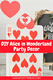diy alice in wonderland party decor