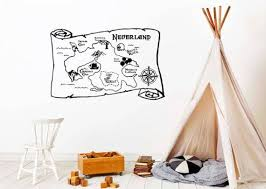 Neverland Map Wall Decal Peter Pan Wall Decal Wall Decal Etsy