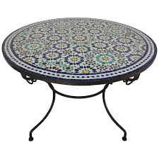 round mosaic outdoor tile table fez 39