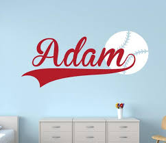 Baseball Name Wall Decal Sport Boy Room Decor Art Vinyl Lovely Decals World
