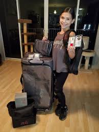 glam r gear hanging travel cosmetics bag