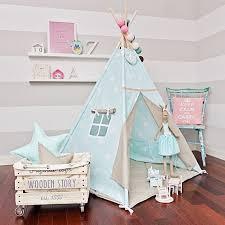 Teepee Tent Sky Beige Etsy In 2020 Teepee Kids Nursery Design Girl Kids Play Tent
