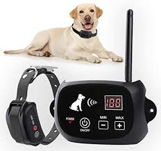Amazon Com New Wireless Dog Fence Pet Containment System Pets Dog Containment System Boundary Container With Ip65 Waterproof Dog Training Collar Receiver Adjustable Range Harmless For All Dogs Black Pet Supplies