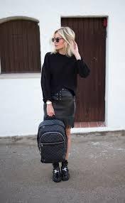 cropped sweater fringe leather skirt