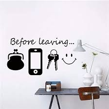 Amazon Com Wanling Wall Sticker Before Leaving Wall Decal Reminder Tips Removable Pvc Decoration Home Entrance Decor Kitchen Dining