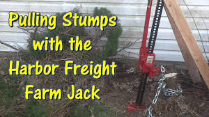 Pulling Stumps With A Harbor Freight Farm Jack By Gettinjunkdone Stumped Backyard Landscaping Designs Lawn Maintenance