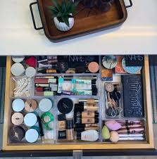 makeup drawer organization trays