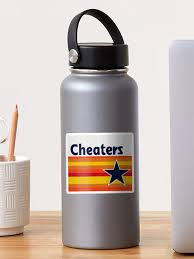 Houston Astros Cheaters Sticker By Smoggysmoggy Redbubble