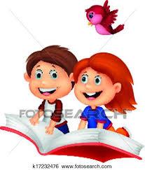 Szczęśliwy, dzieci, rysunek, jeżdżenie, książka Clip Art ...