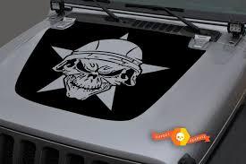 Mopar Punisher Dodge Ram Jeep Distressed Star Decal Wrangler 10 Colors