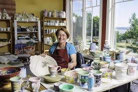 Wendy Johnston Pottery and Art Effects Fine Craft Gallery / #ExploreNB /  Tourism New Brunswick