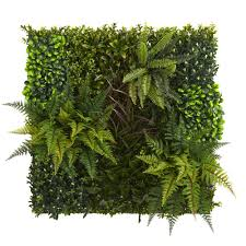Nearly Natural Indoor Outdoor 29in X 29in Artificial Living Wall Uv Resistant 4254 The Home Depot