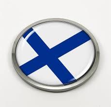 Finland Flag Car Emblem Badge Sticker Decal W O Chrome Etsy