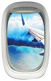 Vwaq Airplane Wing Window View Decal Wall Art Peel And Stick Aviation Wall Decor Contemporary Wall Decals By Vwaq Vinyl Wall Art Quotes And Prints