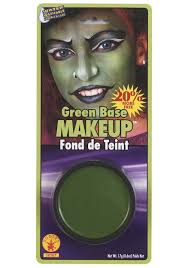 green makeup hulk and witch green make up