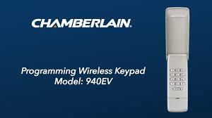 940ev wireless keypad to a garage