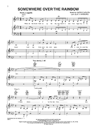 somewhere over the rainbow sheet music - Google Search (avec images)