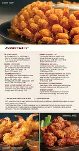 Outback Steakhouse menu in ...