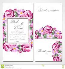 Vector La Tarjeta De La Invitacion Con Las Rosas Para Casarse